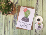 A6 Postcard Print -  Cactus Succulent - Sorry for Being So Prickly - DD571