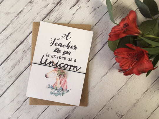 A6 postcard print - A Teacher like you is as rare as a Unicorn DD697