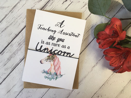 A6 postcard print - A Teaching Assistant like you is as rare as a Unicorn DD698