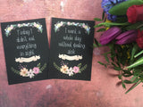 Pregnancy Journey & Reality Cards ® Chalkboard Floral DD003