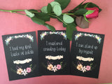 Baby Journey Cards ® Chalkboard Floral DD001