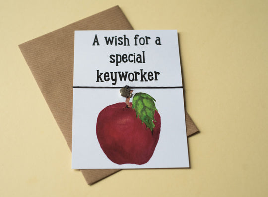 A6 Postcard Print  -  Keyworker Apple - DD114