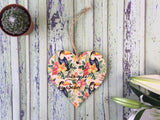 Wooden Hanging Heart Tropical - Awesome Job DD393