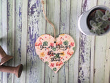Wooden Hanging Heart Tropical - Stronger Than You Think DD391