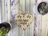 Wooden Hanging Heart Tropical - You Are A Star  DD397