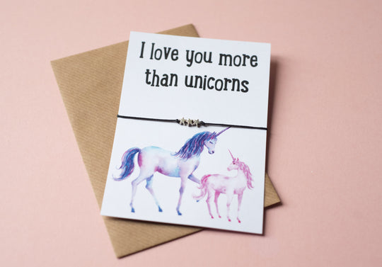 A6 postcard print - I love you more than unicorns - DD411