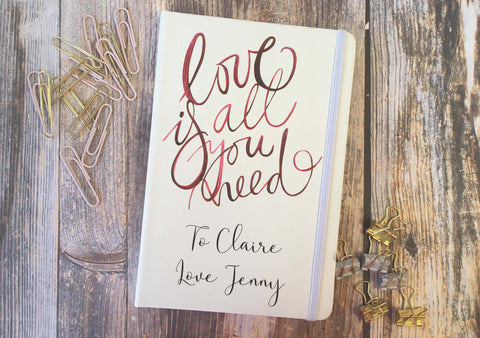Personalised Lined Notepad - Love Is All You Need DD285