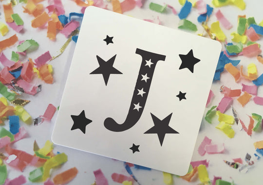 Personalised Coaster - Monochrome Star Initial - DD350
