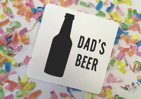 Personalised Coaster - Monochrome Beer - DD347