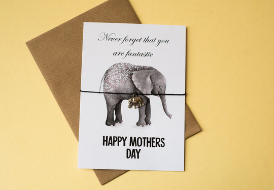 DD260 A6 Postcard Print - Mother's Day Elephant