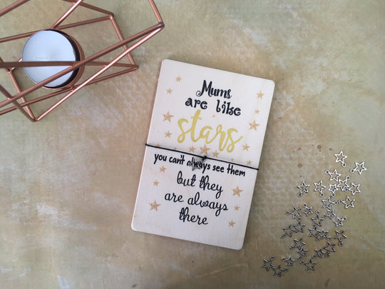 Printed Wooden Wish Bracelet - Mums Are Like Stars - DD180