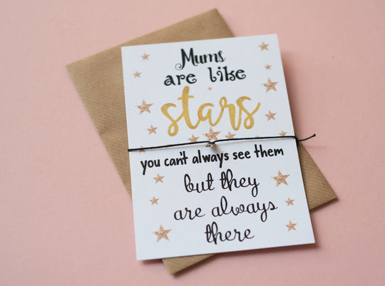 DD074 A6 Postcard Print - Mums Are Like Stars