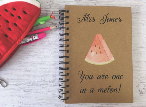 Kraft Lined Notepad -  One in a Melon  - DD688