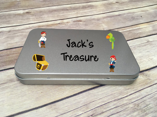 Personalised Metal Tin - Pirate DD293