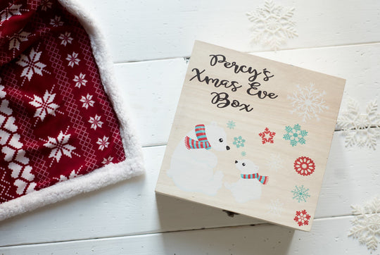 Personalised Printed Xmas Eve Box - Polar Bear DD157