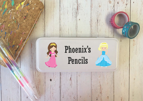 Personalised Pencil Tin Princess DD279