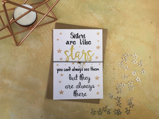 A6 Postcard Print - Sisters Are Like Stars - DD075
