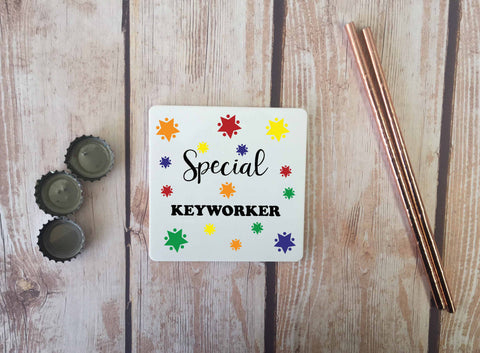 Personalised Coaster - Special Keyworker - DD663