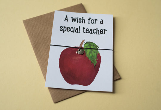 A6 postcard print - Teacher Apple - DD111