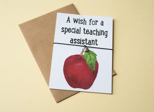 A6 postcard print - Teaching Assistant Apple - DD112