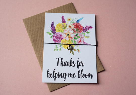 A6 postcard print - Teacher Bloom DD108