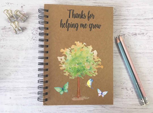 Kraft Lined Notepad -  Thanks for Helping Me Grow  - DD690