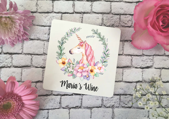 Personalised Coaster - Unicorn - DD346