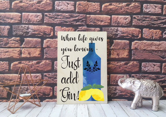 Wooden Print - When Life Gives You Lemons - DD549