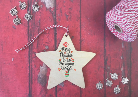 Hanging Star - Merry Christmas to an Amazing Wife DD486