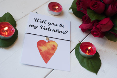 A6 Postcard Print- Will You Be My Valentine? - Valentines Day DD252