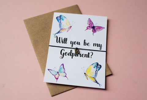 A6 postcard print - Will you be my Godparent? - DD098