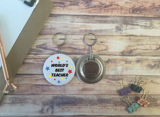 World's Best Teacher Bottle  Opener Keyring - DD646