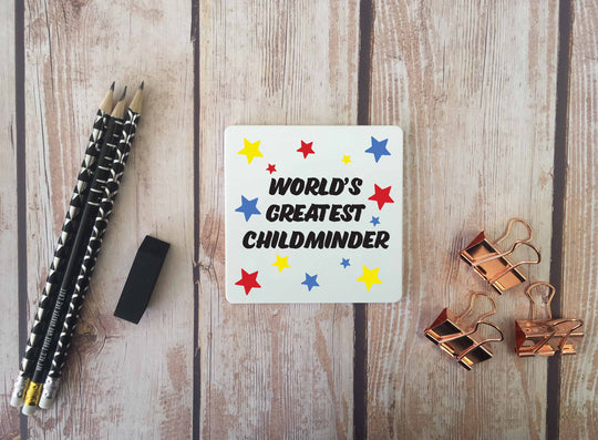 Personalised Coaster - Worlds Greatest Childminder - DD670