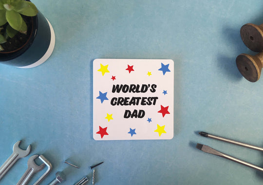 Personalised Coaster - Worlds Greatest Dad - DD529