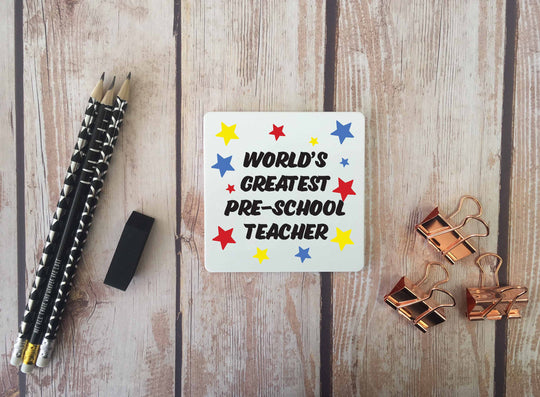 Personalised Coaster - Worlds Greatest Pre-School Teacher - DD668