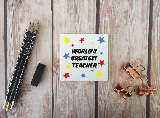 Personalised Coaster - Worlds Greatest Teacher - DD672