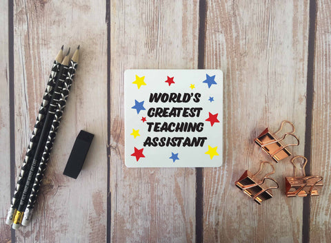 Personalised Coaster - Worlds Greatest Teaching Assistant - DD669