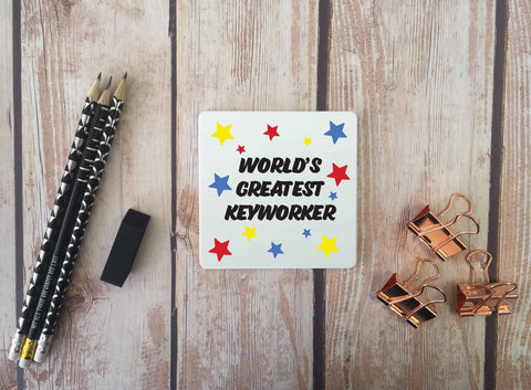 Personalised Coaster - Worlds Greatest Keyworker - DD671