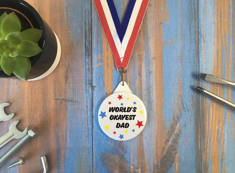 World's Okayest Dad Medal - DD639