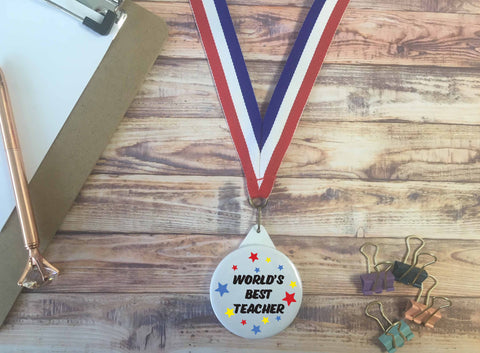 World's Best Teacher Medal - DD650