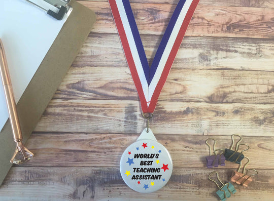 World's Best Teaching Assistant Medal - DD651