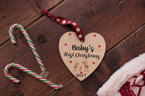 Baby's First Christmas Printed Decoration
