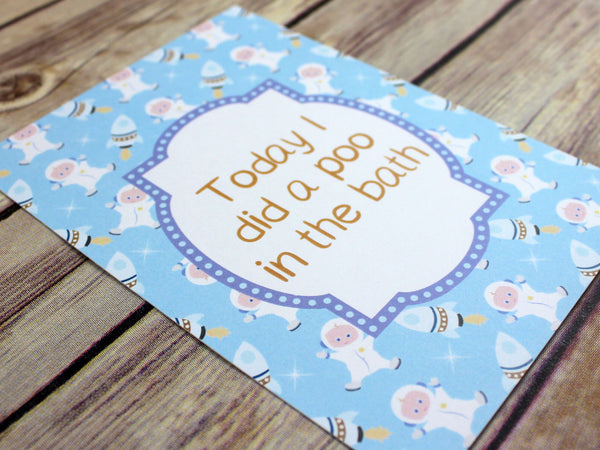 Blue Retro Alternative Baby Journey Cards DD028