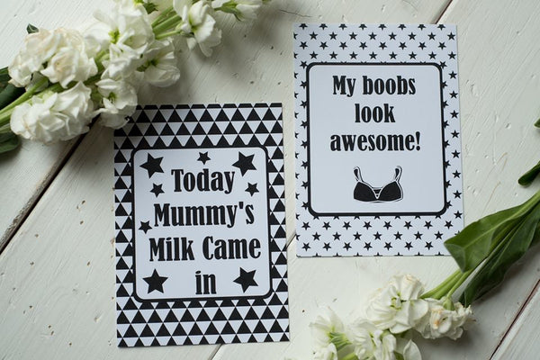Breastfeeding Journey Cards ® Monochrome DD018