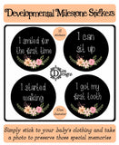 Developmental Journey Stickers - Chalkboard Floral - DD059