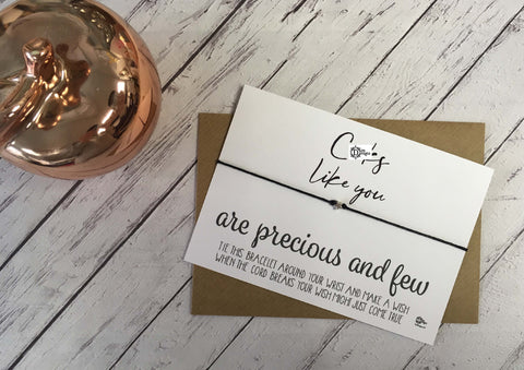 Sweary Wish Bracelet C*cks Like You Are Precious And Few /Choice of card, wood or foil print DD1442
