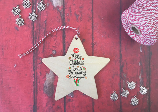 Hanging Star - Merry Christmas to an Amazing Colleague DD471
