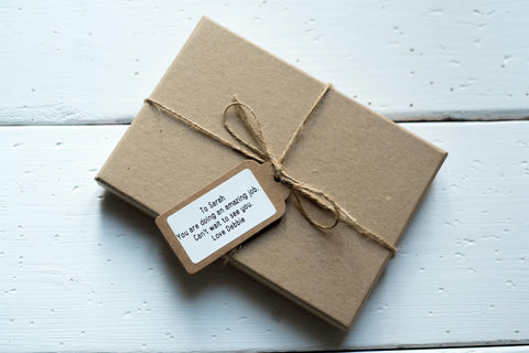 Luxury Craft Gift Box with Gift message & Tag