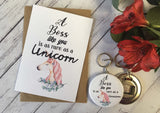 A Boss Like You is as rare as a Unicorn Wish Bracelet Charm Friendship Bracelet Birthday Gift Present Badge Magnet Keyring Mirror DD705