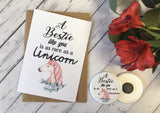 A Bestie Like You is as rare as a Unicorn Wish Bracelet Charm Friendship Bracelet Birthday Gift Present Badge Magnet Keyring Mirror DD703